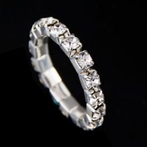 Strass Ring Bella in Silber 1-Reiher