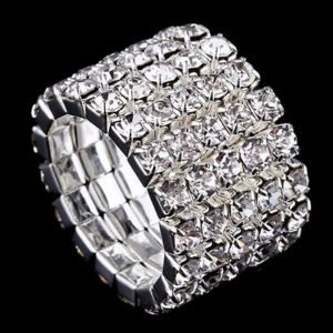 Strass-Ring Bella in Silber 5-Reiher